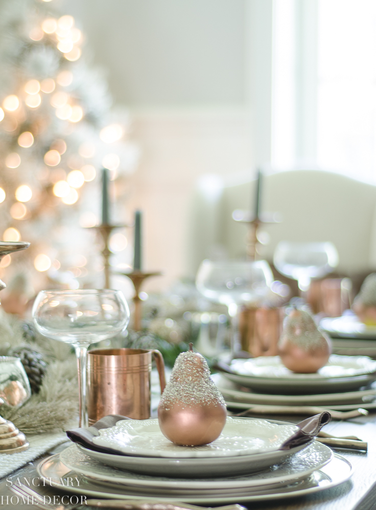 Christmas Table Setting with Garland and Copper Accents-2.jpg