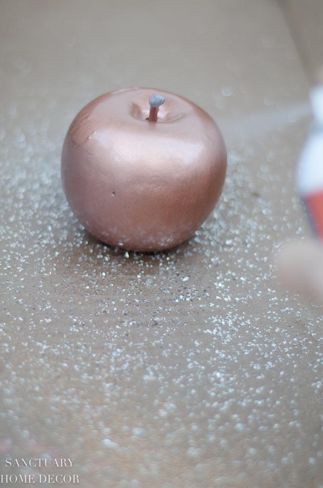 DIY Metallic Glittered Fruit