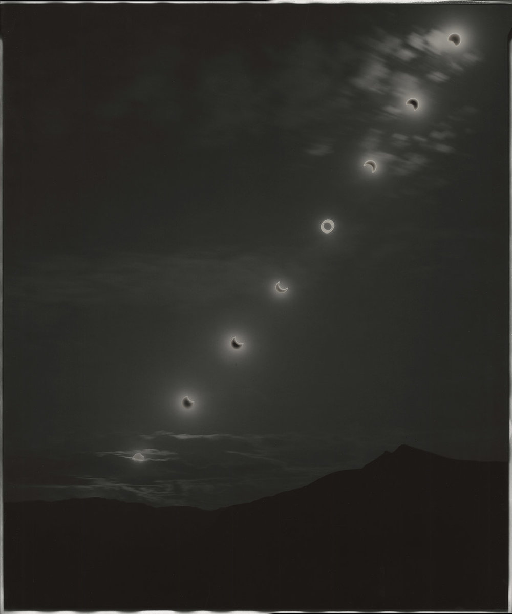 "Sunburned GSP#576(Annular eclipse,Nevada), 2012. 20""x24"" unique gelatin silver paper negative. Personal collection"