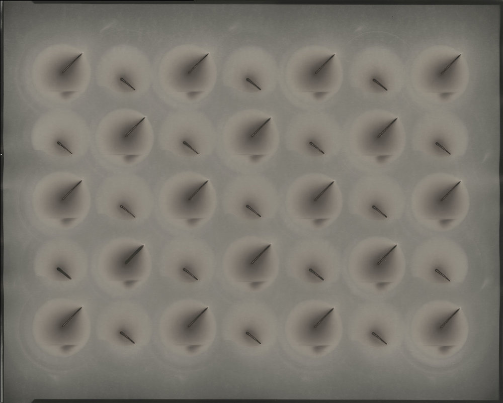"Poly-optic#57, 2016. 16""x20"" unique gelatin silver paper negative. Courtesy of Haines Gallery, San Francisco"