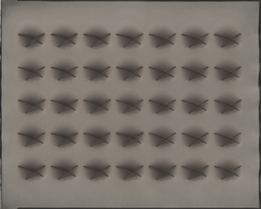 "Poly-optic#58, 2017. 16""x20"" unique gelatin silver paper negative. Courtesy of Haines Gallery, San Francisco"