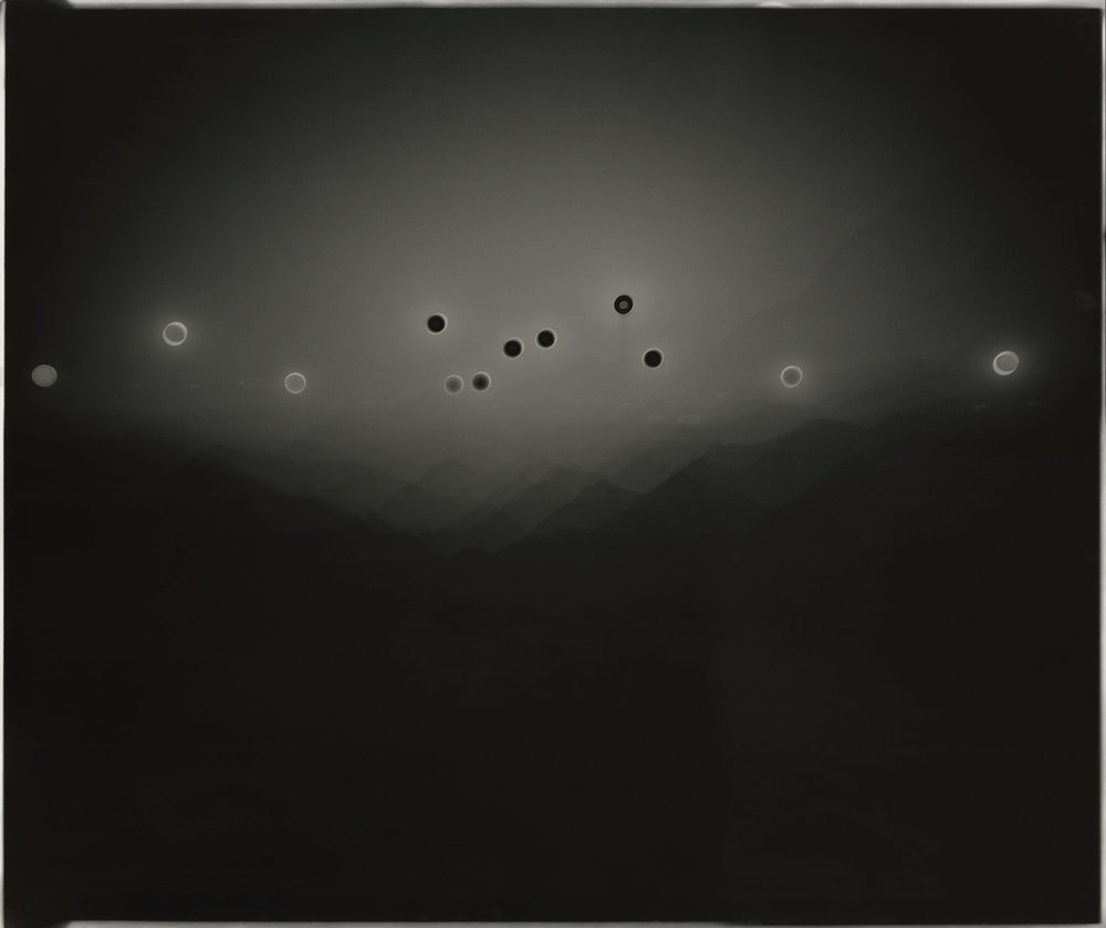 "Heliograph #93, 2015. 20""x24"" unique gelatin silver paper negative. Private collection"