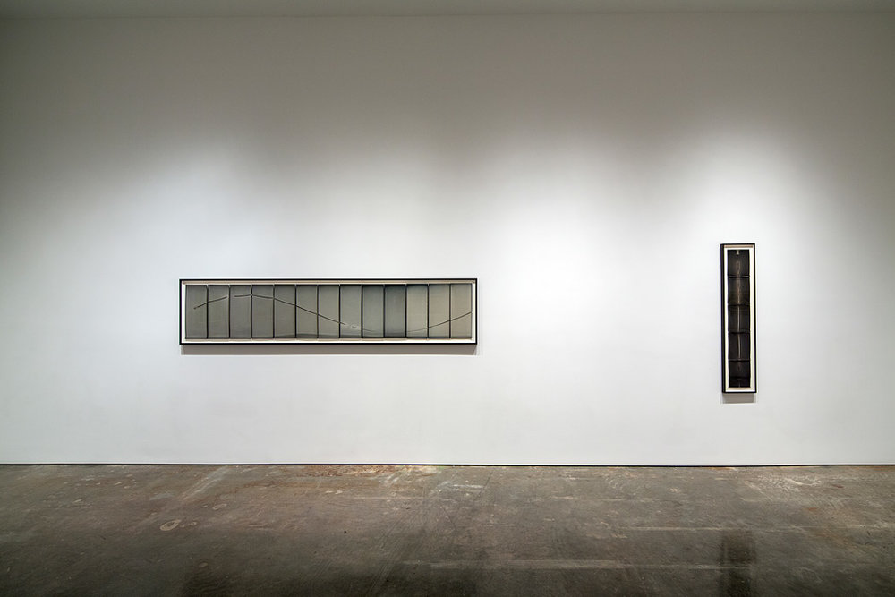 Installation view of Sunburned GSP#492 and #540, Yossi Milo Gallery, New York, 2012.
