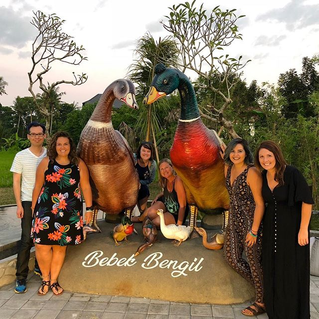 Just ducking around in Bali with our new crew! Loving this place so far!