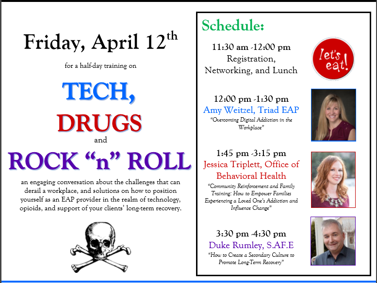 Why We Need Open Conversations About Drugs Community >> Tech Drugs And Rock N Roll Registration Open Colorado Eapa