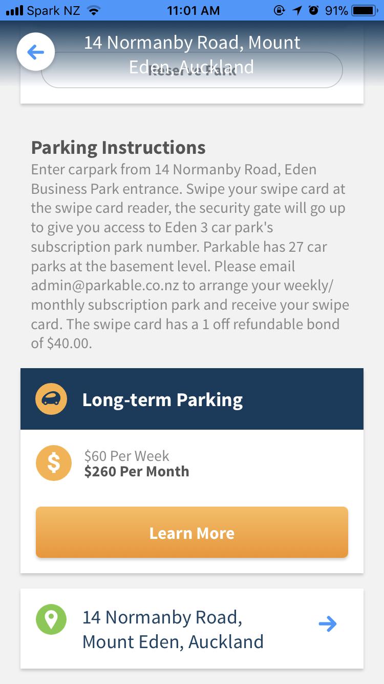 Parking at Eden Business Centre