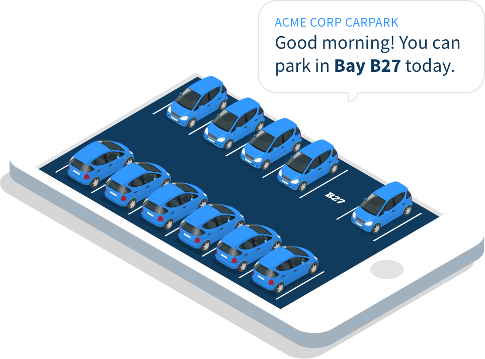 Mobile phone carparking - You can park in bay 27 today