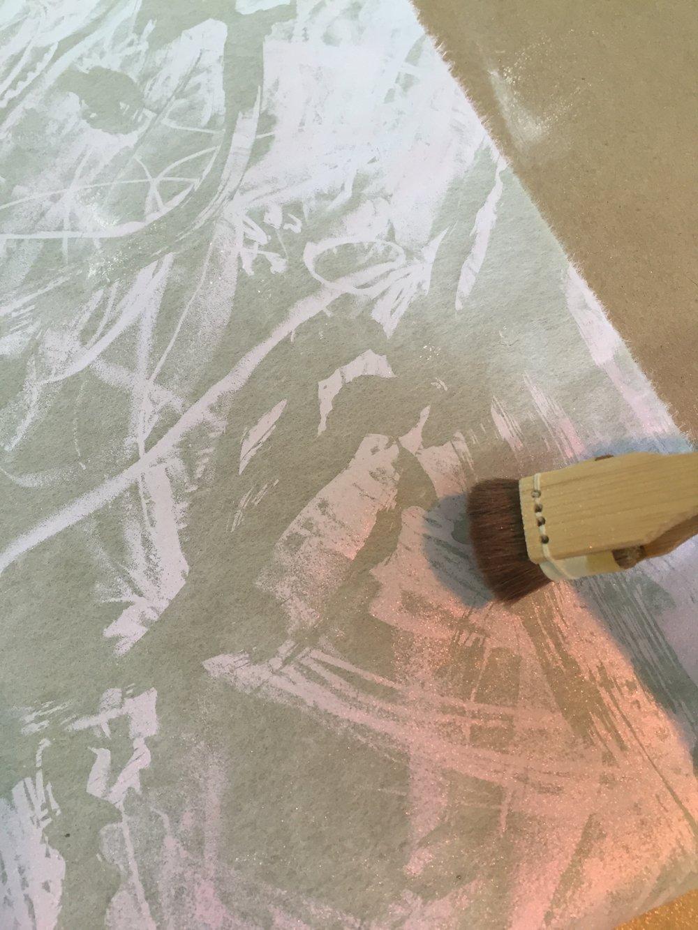 adding metallic pigment