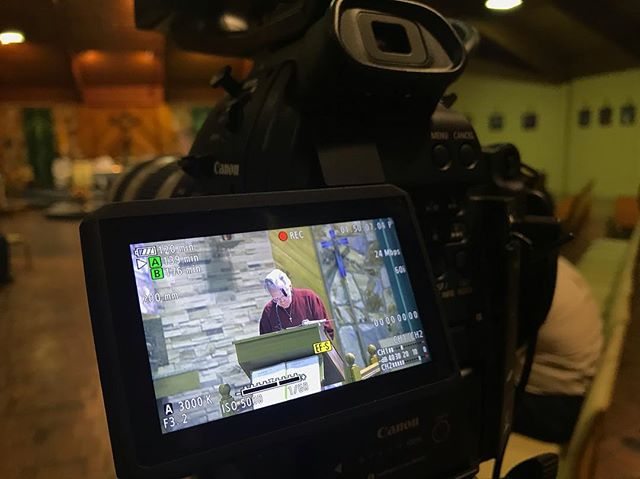 Filming Catholic Men For Jesus Christ Evening of Reflection Last Week. . . . #behidethescenes  #canonc100 #catholicmedia #videoproduction #digital