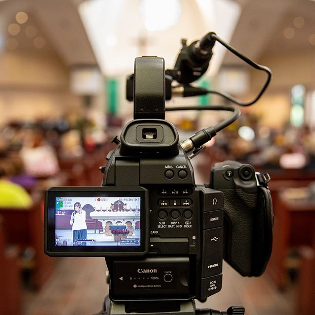 Filming on location at a conference! . . . #film #videoproduction #catholicmedia #productionlife