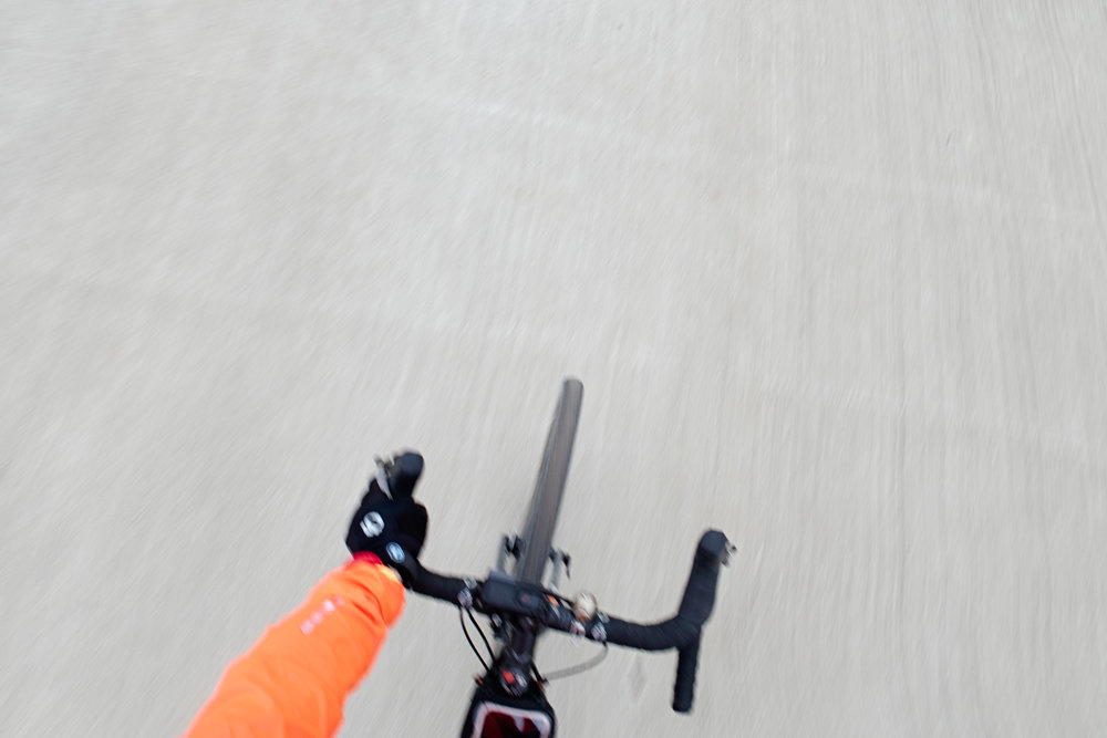 Overhead view of my bike cockpit on a gravel ride in Dallas.jpg