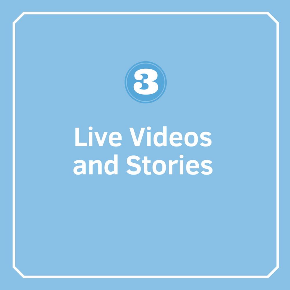 Week 3: Live Videos and StoriesDay 1Day 2Day 3Day 4Day 5 -