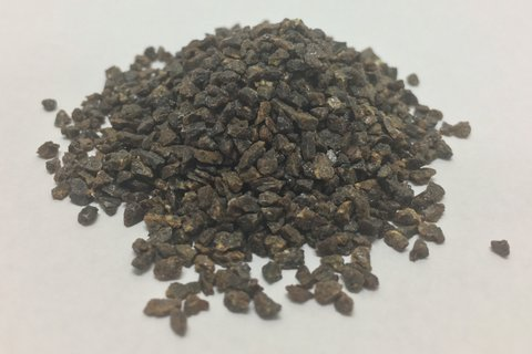 NSF (National Sanitary Foundation) Certified Coarse, Medium and Fine Grade Garnets for Water Filtration    #5, #8/12, #30/40, #50, #60    Garnet is a highly dense granular mineral. Garnet's hardness, chemical, and durability properties make it a superior filter and abrasive media    High hardness on the Mohs scale reduces attrition and provides years of reliability, while achieving higher flow rates and better filtration in multi-media bedding