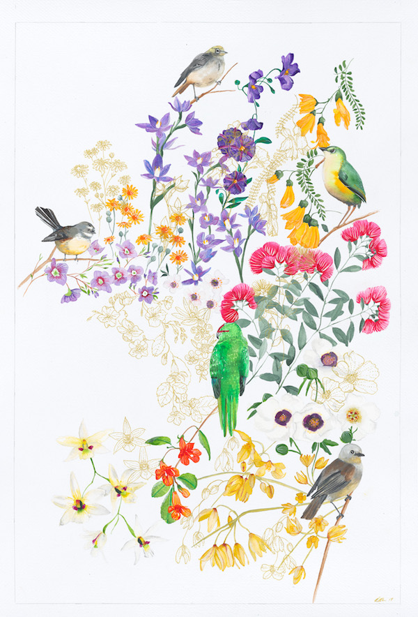 Christina Graham Artist Illustrator Botanical Floral Gold