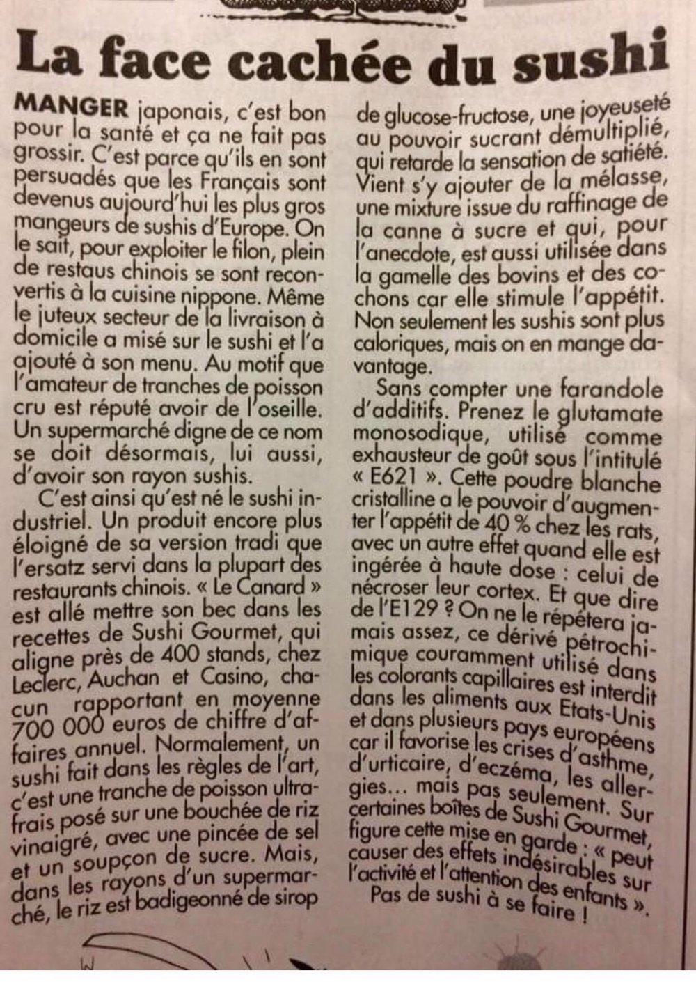 Article paru dans le Canard enchaîné le mercredi 20/09/2017