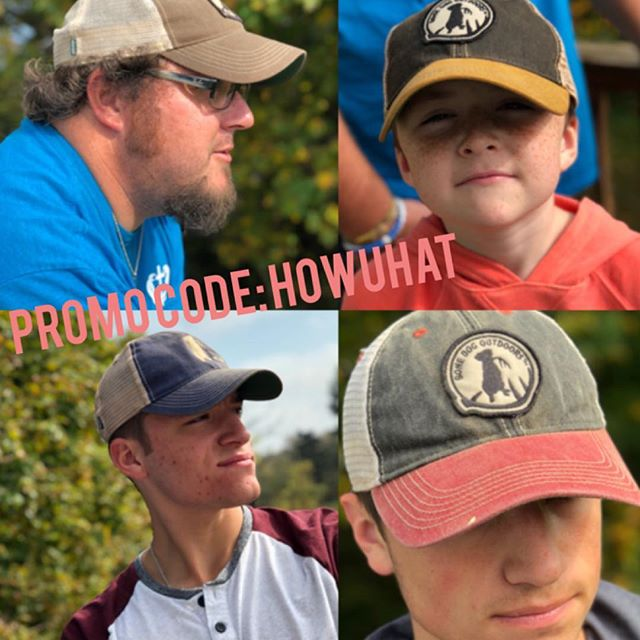 HAT SALE AND FREE SHIPPING! promo code: HOWUHAT  Our guys reppin their favorite Bone Dog Hats! Perfect fit, snug, famous dirty wash, super soft mesh, patched or stitched in a great selection of colors.  #sheds #labs #shedhunting #redneck #family #hats #sale #freeshipping