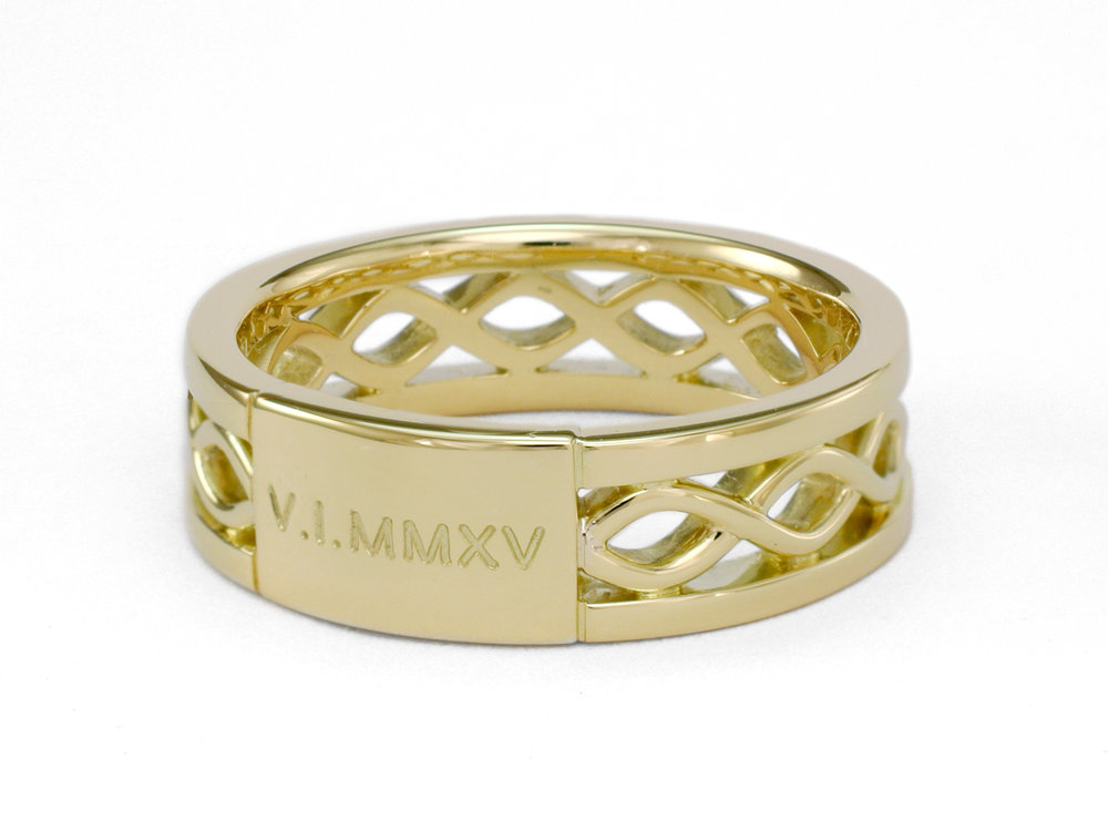 Wedding date in Roman numerals.