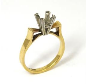 Old ring minus the diamond