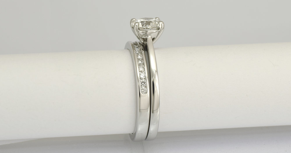 1 - bride`s diamond set wedding ring delivery