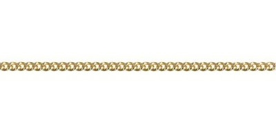 Chain width = 2.20mm  Approx. weight 9ct yellow gold for 50cm = 6.11g  Available in the following:  9ct yellow : 40, 45, 50, 55, 60, 70cm