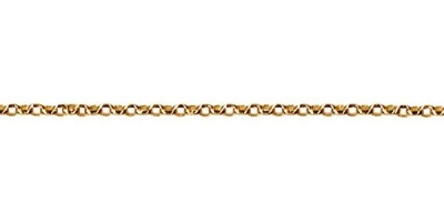Chain width = 1.5mm  Approx. weight 9ct yellow gold for 50cm = 3.05g  Available in the following:  9ct white : 40, 45, 50cm 9ct yellow : 40, 45, 50cm