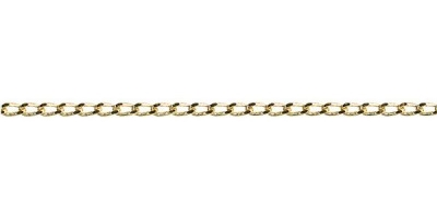 Chain width = 1.8mm  Approx. weight 9ct yellow gold for 50cm = 3.4g  Available in the following:  9ct yellow : 40, 45, 50, 55, 60cm