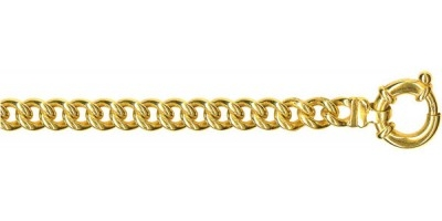 Chain width = 6.2mm Approx. weight 9ct yellow gold for 45cm = 55g Available in the following:  9ct yellow : 45cm