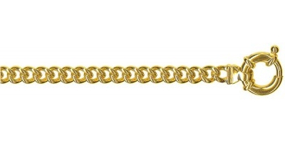 Chain width = 5.3mm  Approx. weight 9ct yellow gold for 45cm = 38g  Available in the following:  9ct yellow : 45cm