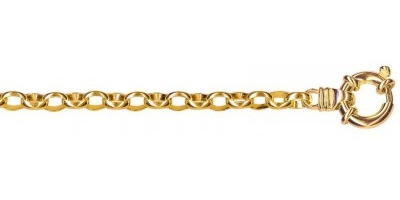 Chain width = 4.6mm  Approx. weight 9ct yellow gold for 45cm = 18g  Available in the following:  9ct yellow : 45cm