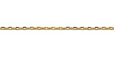 Chain width = 1.3mm Approx. weight 9ct yellow gold for 50cm = 3.38g Available in the following:  9ct white: 40, 45, 50, 55cm 9ct yellow : 40, 45, 50, 55cm