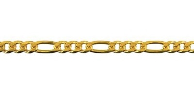 Chain width = 3.6mm  Approx. weight 9ct yellow gold for 50cm = 12.3g  Available in the following:  9ct yellow : 45, 50, 55, 60, 70cm