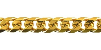 Chain width = 9mm  Approx. weight 9ct yellow gold for 50cm = 80g  With a box clasp  Available in the following:  9ct yellow : 50, 55, 60cm