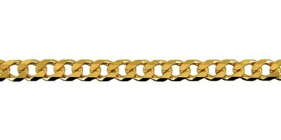 Chain width = 4.6mm  Approx. weight 9ct yellow gold for 50cm = 20.18g   Available in the following:   9ct white: 50, 55, 60cm  9ct yellow : 40, 45, 50, 55, 60, 70cm