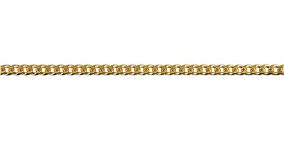 Chain width = 2.1mm Approx. weight 9ct yellow gold for 50cm = 5.25g   Approx. weight 18ct yellow gold for 50cm = 6.85g Available in the following:  18ct white: 45, 50, 55, 60, 70cm 18ct yellow: 45, 50, 55, 60, 70cm 9ct pink: 70cm 9ct white: 45, 50, 55, 60cm 9ct yellow : 40, 45, 50, 55, 60, 70cm