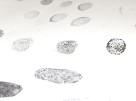 Finger print supplied by the customer.