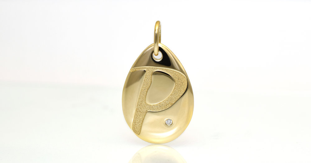 Letter P with diamond