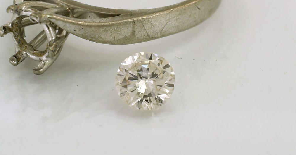 This diamond is a bit yellowish.