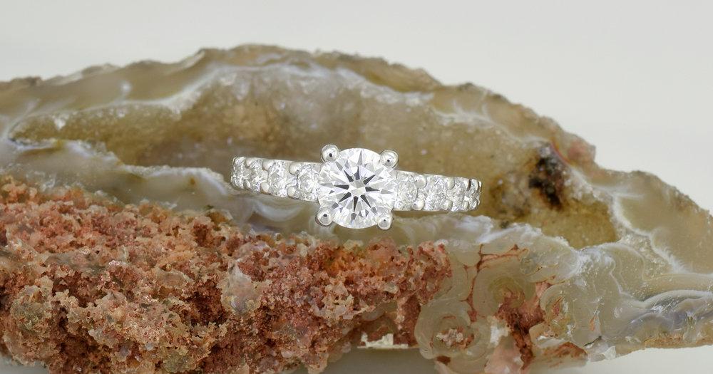 The proposal ring in 18ct Palladium white gold