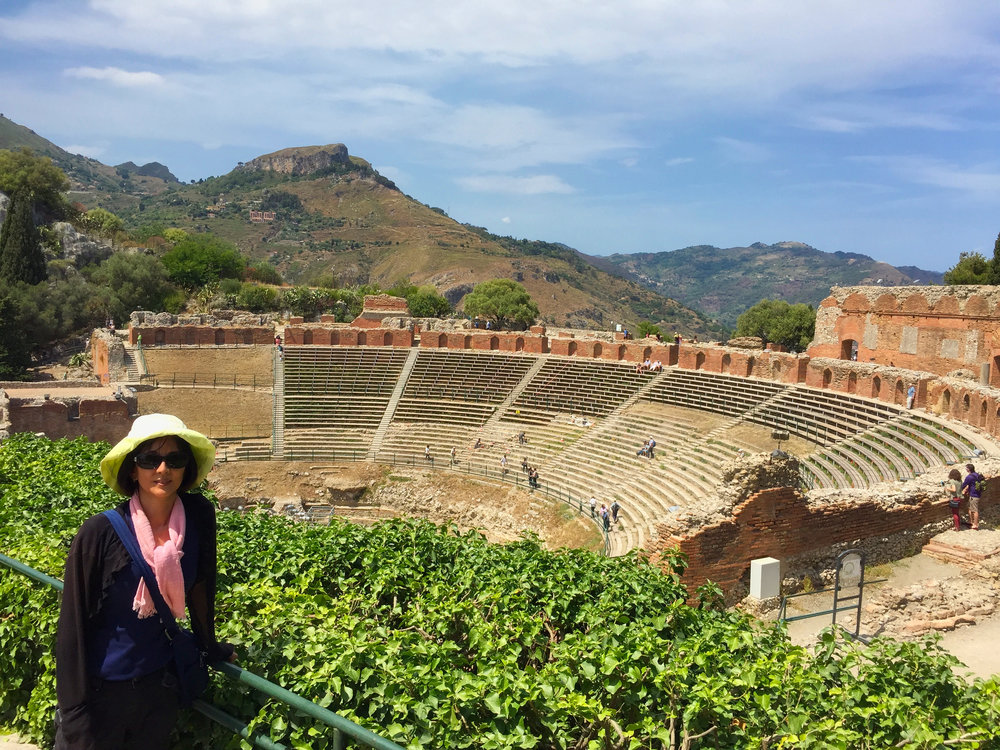 "The Ancient ""Greek"" Theatre of Taormina."