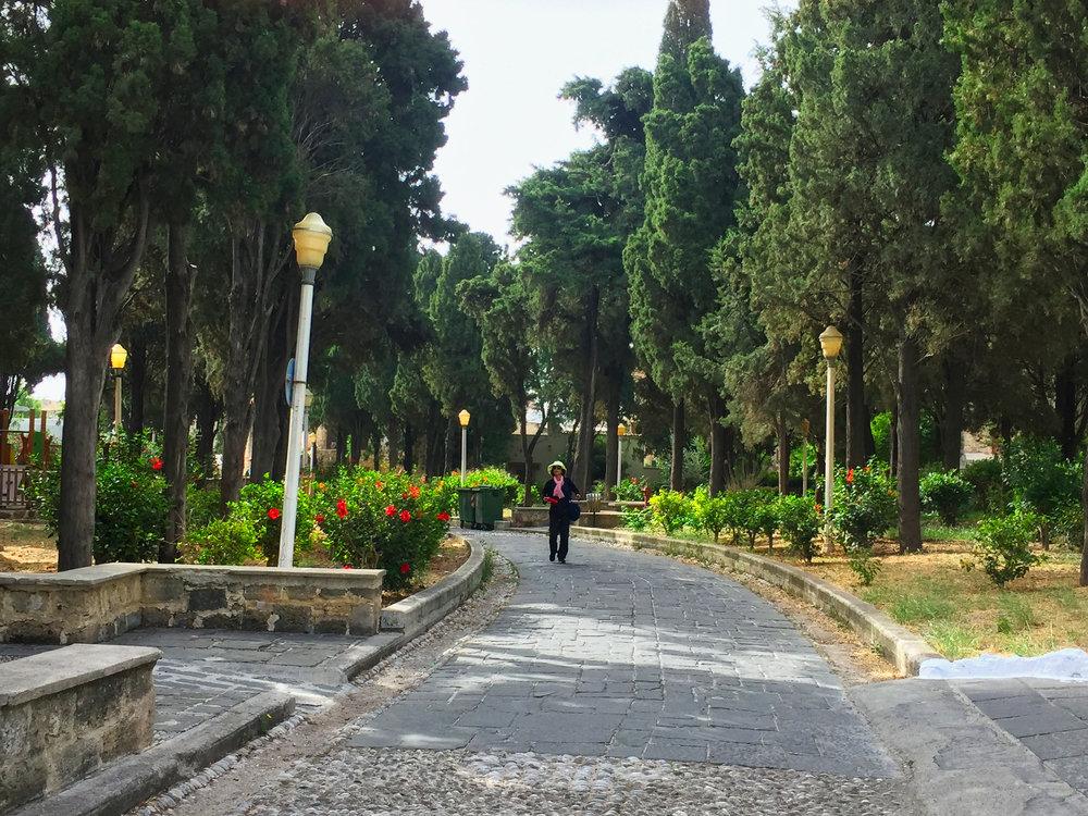 Nice park near the entrance.