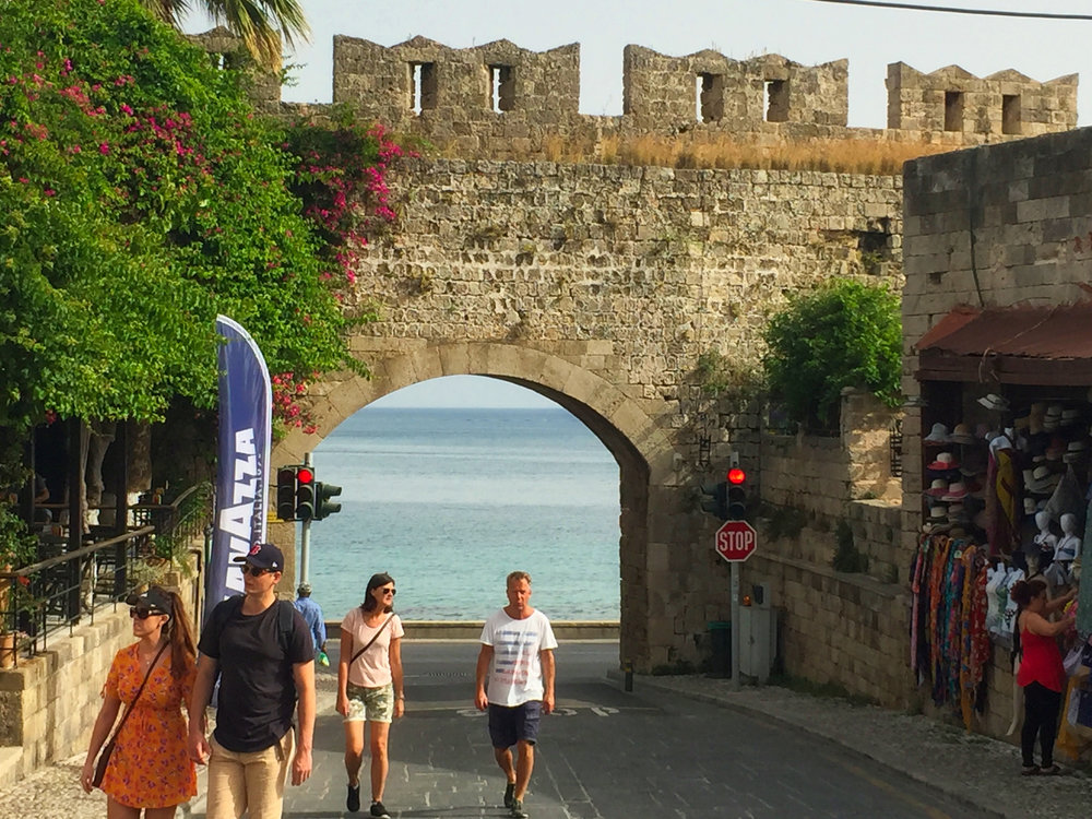 The entrance to the old city.