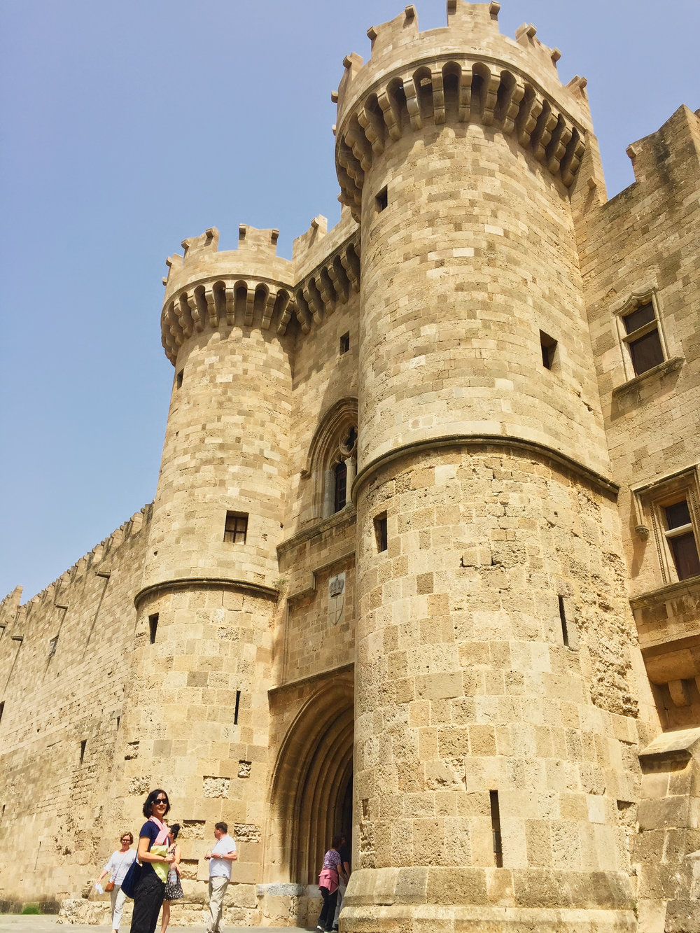 The entrance to the Palace of the Grandmaster of the Knights of Rhodes.