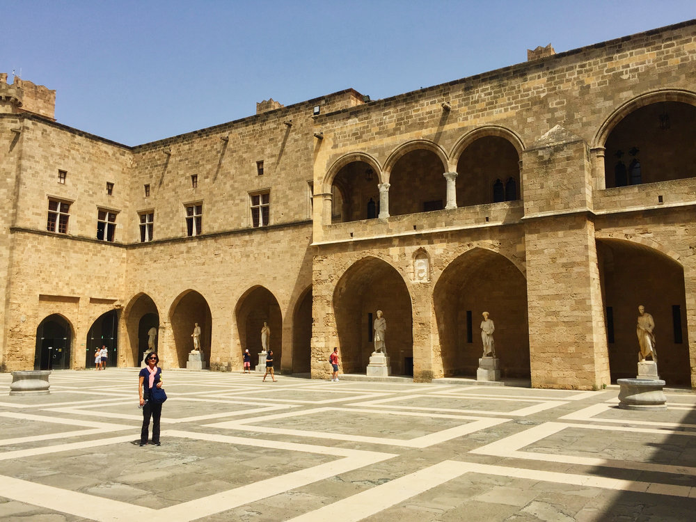 The Palace courtyard.