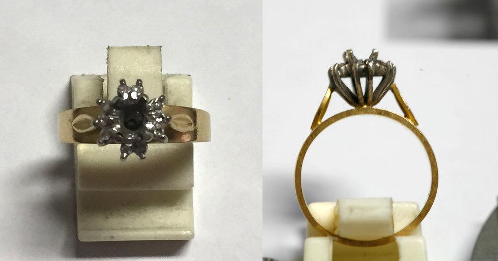 Broken ring for repair.