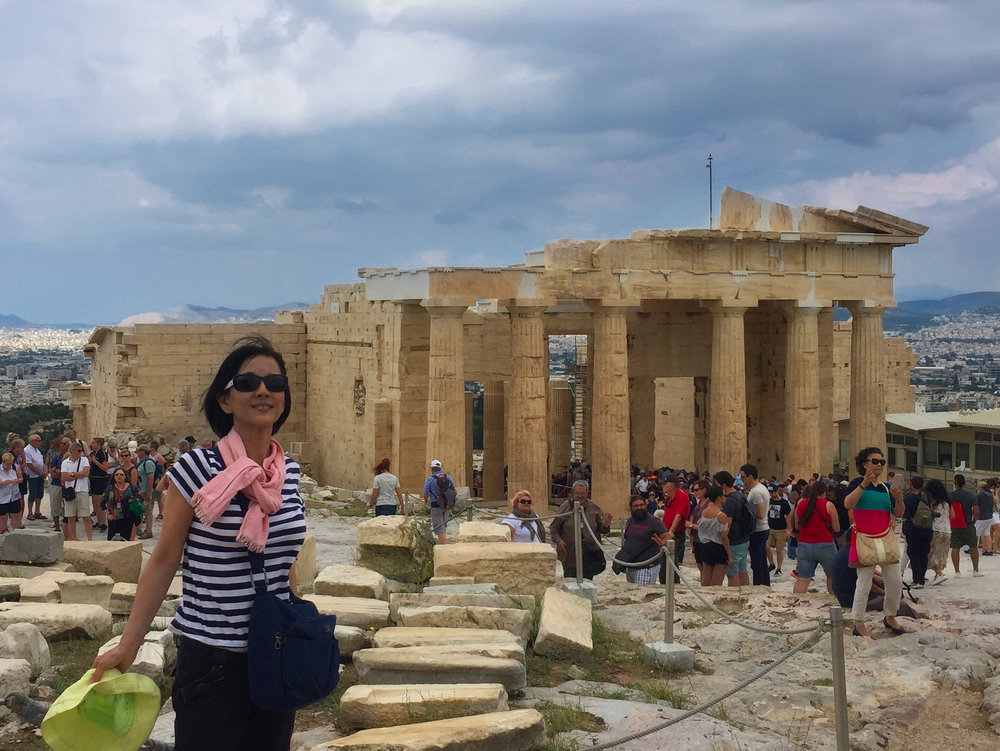 The view of the Propylaea (entrance) of the Athenian Acropolis once you have passed through.