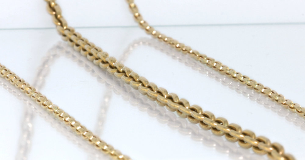 60cm hand made chains in 9ct yellow gold