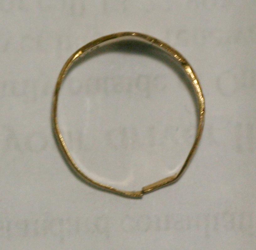 The ring so thin it has broken.