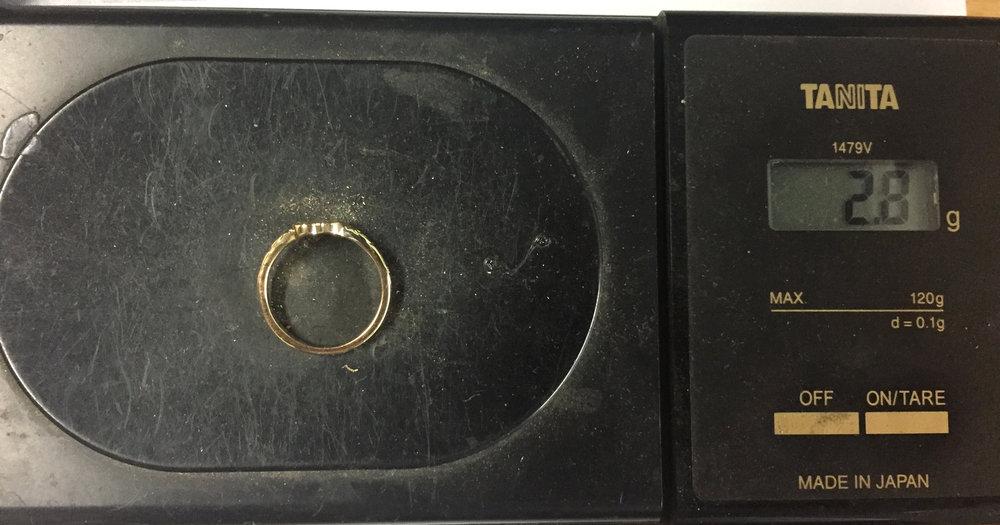 Original ring weight .5 grams, new ring weight 2.8 grams.