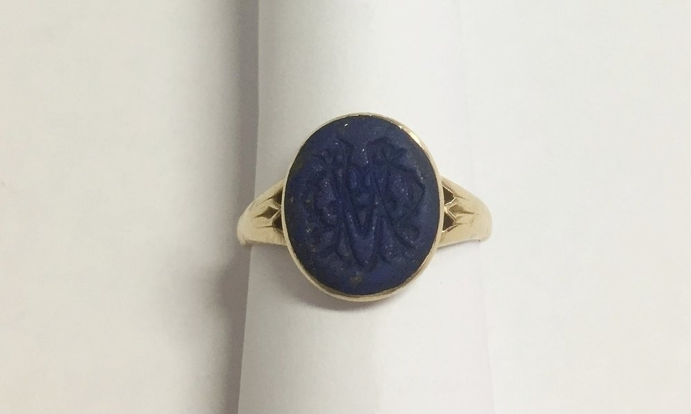 The bezel around the gem was very worn and sharp.