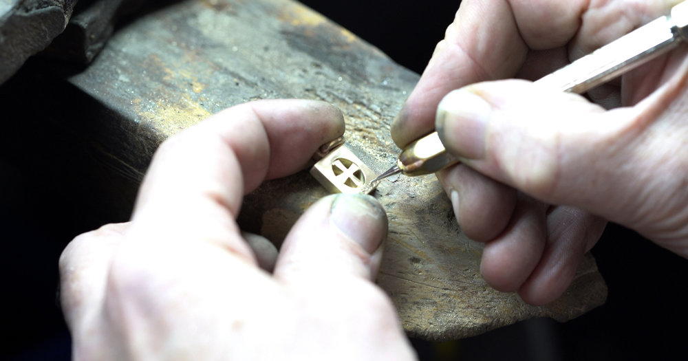 """""""Bushido"""" engraving is traced over by hand to a fine finish."""